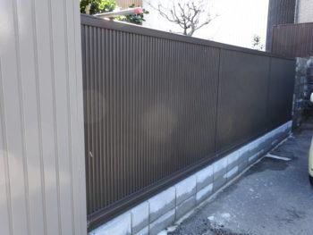 岐阜市 外構工事 目隠しフェンス