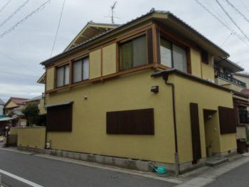 笠松町県町(岐阜) 和風K様  外壁塗装工事 有)ペンテック(羽島