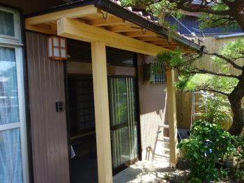 羽島市 和風の家 H様  玄関庇を新設
