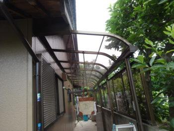羽島市上中町(岐阜)H様 物干しアルミテラス取付 リフォーム工事